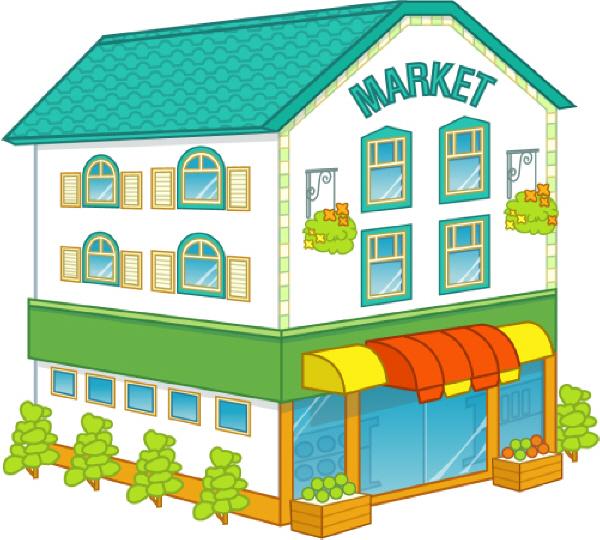 Places clipart supermarket building #12