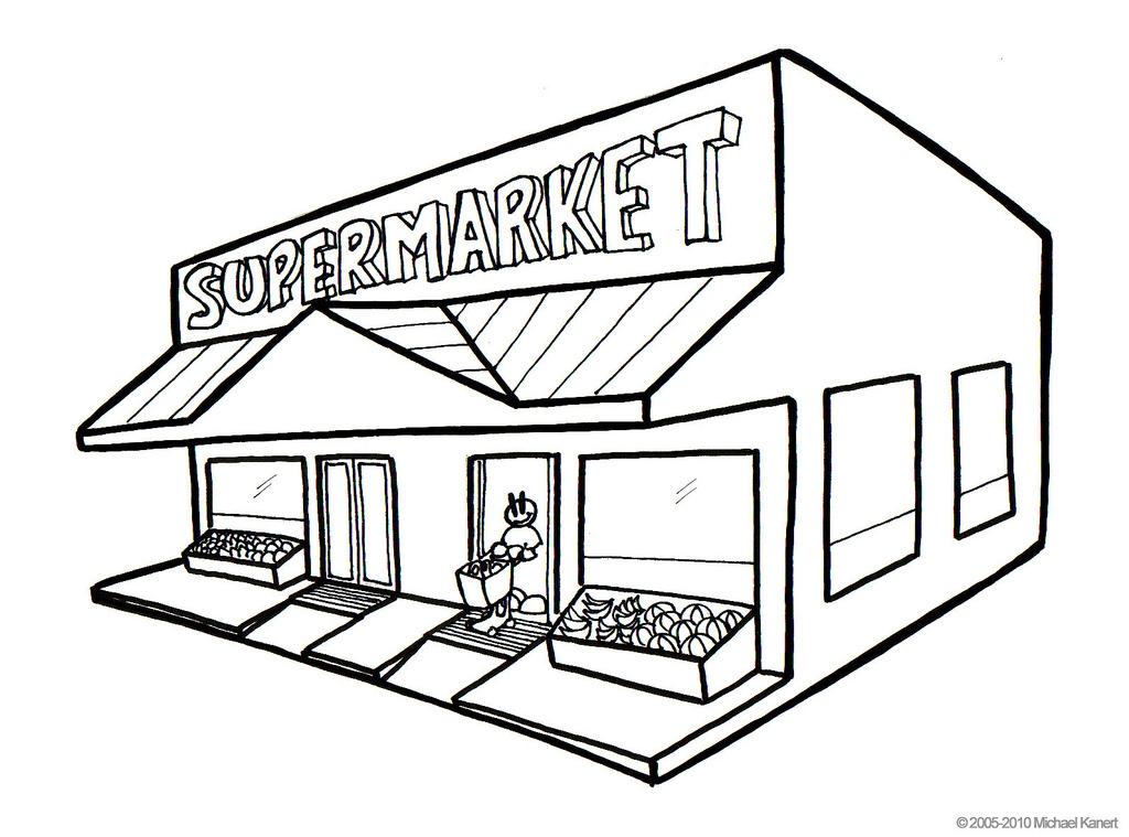 Places clipart supermarket building #9