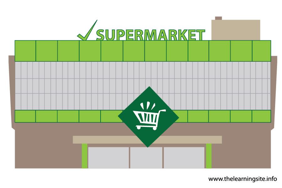 Places clipart supermarket building #7