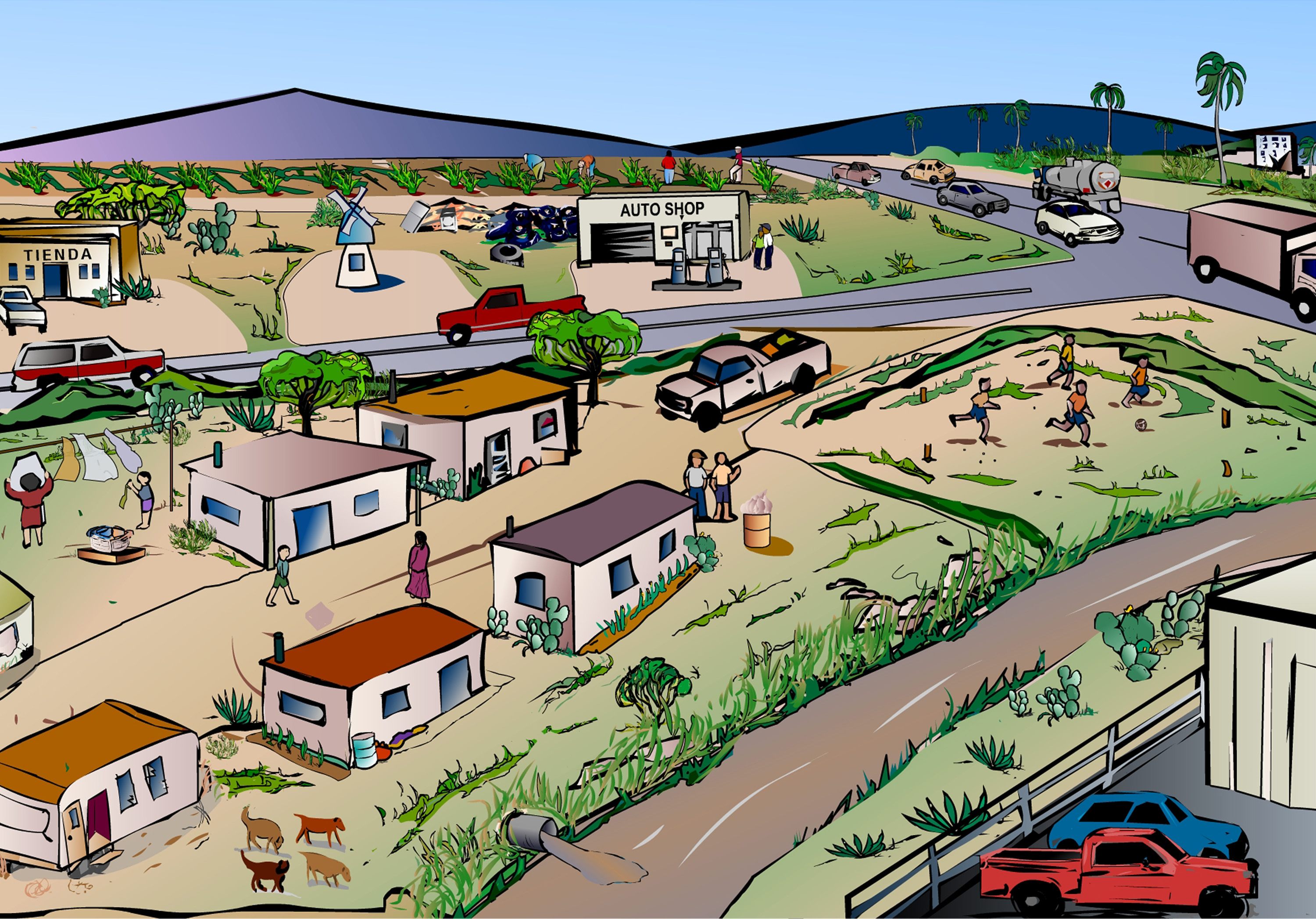 Community clipart town  Town Art Town Clipart