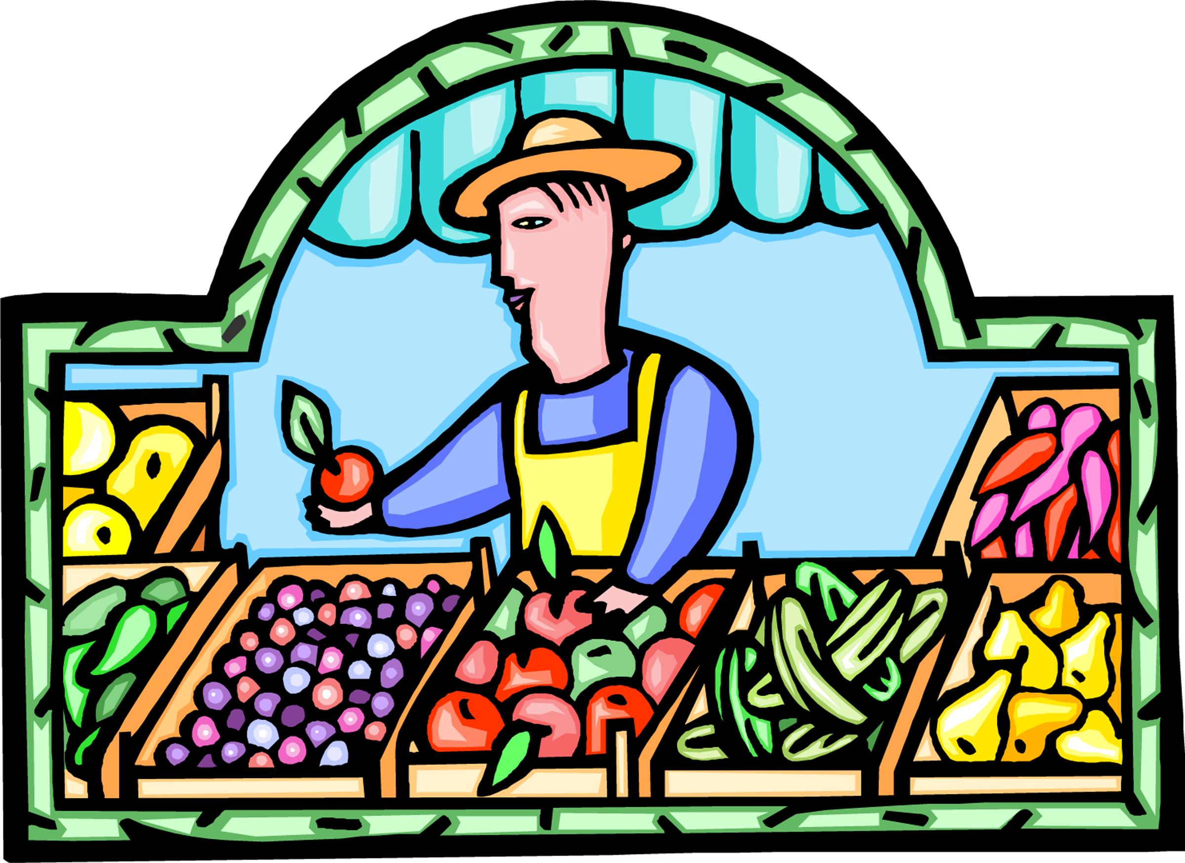 Places clipart vegetable market #10