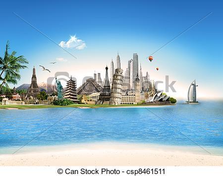 Place clipart world travel Of Travel Illustration world around