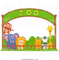 Places clipart zoo Clipart Large Free Safari Clip