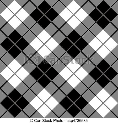 Plaid clipart And White in White Vector