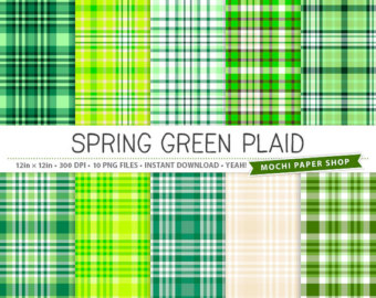 Plaid clipart light green Paper Pattern Background Digital Plaid