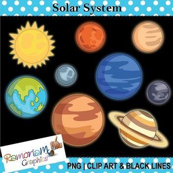 Planet clipart colored Solar System on best Space