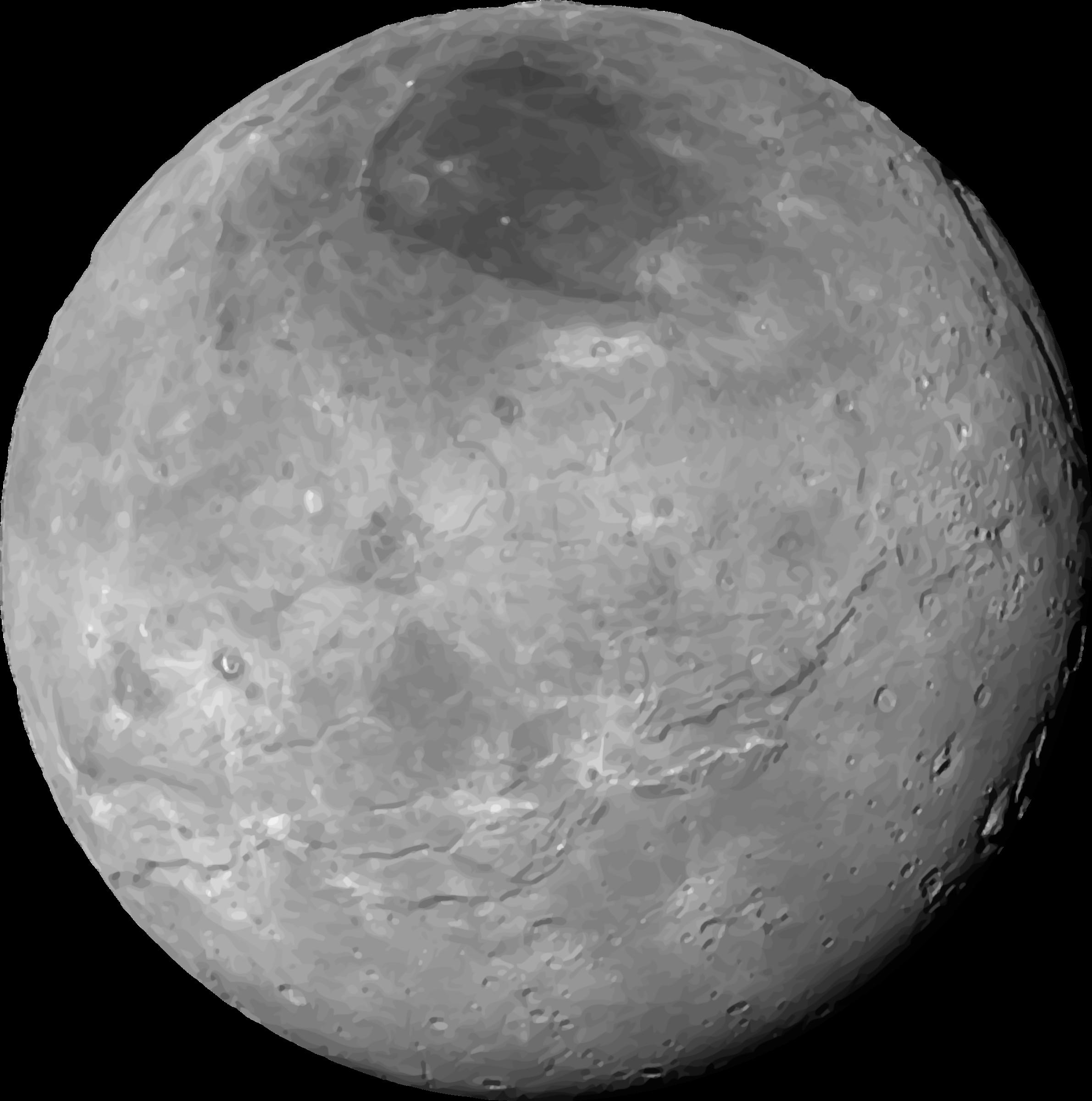 Planet clipart grey  Planet Pluto Clipart