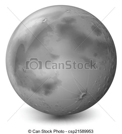 Planet clipart grey Illustration a of grey on