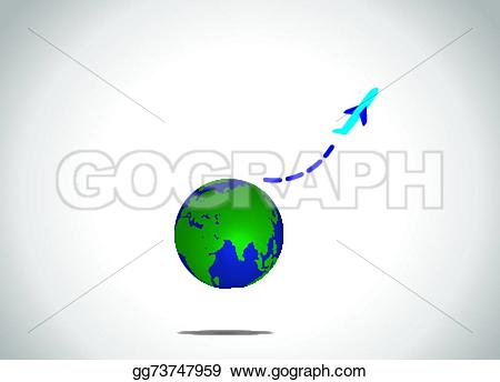 Planet Earth clipart airplane flying Blue upwowards from Airplane earth