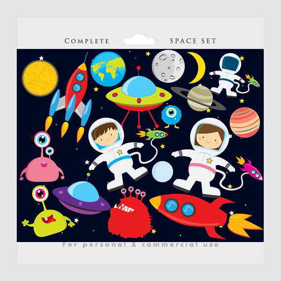 Moon clipart space #9