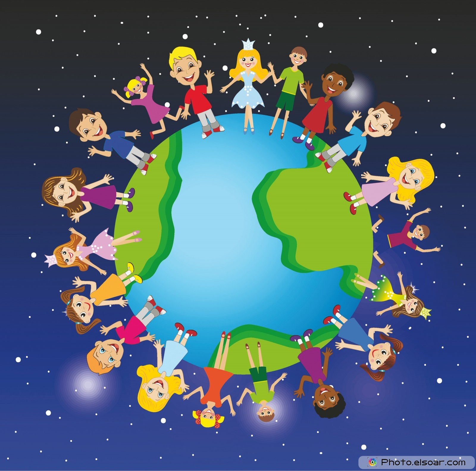 Planet Earth clipart caricature #14