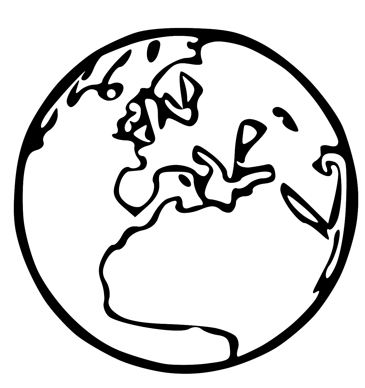Planet Earth clipart colored #3