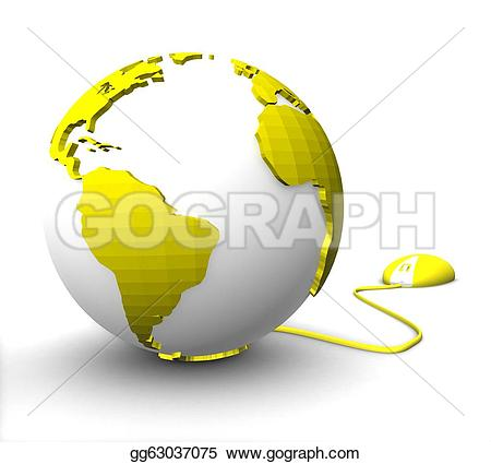Planet Earth clipart colored #5