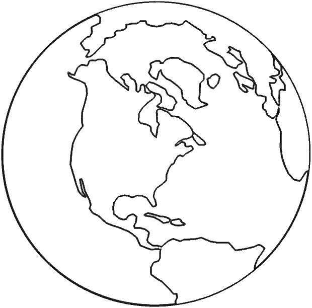 Planet Earth clipart coloring page #8