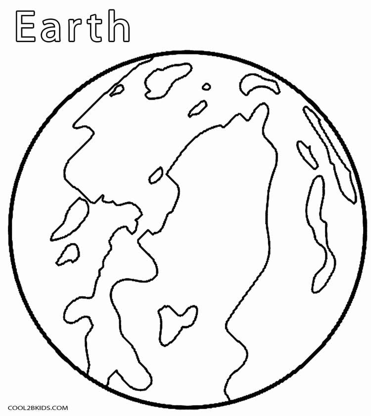 Planet Earth clipart coloring page #5