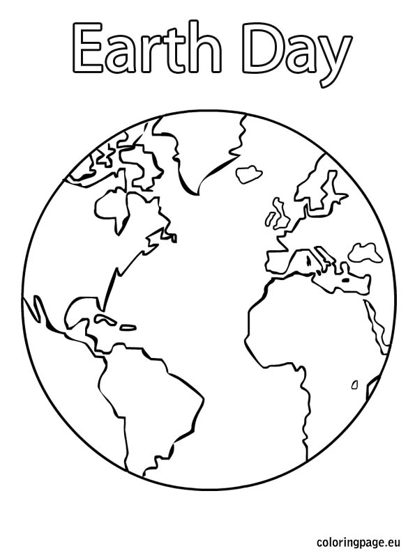 Planet Earth clipart coloring page #7