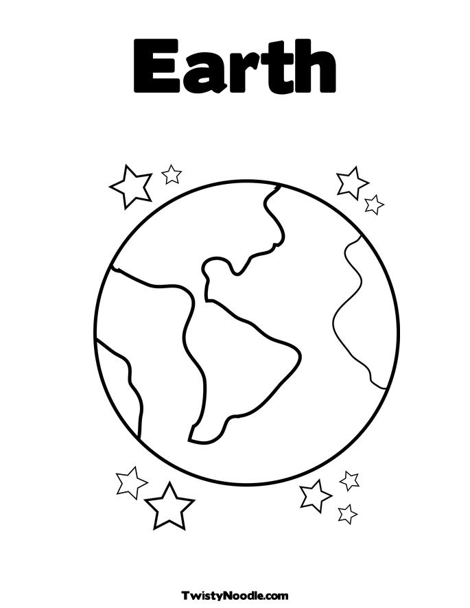 Planet Earth clipart coloring page #10