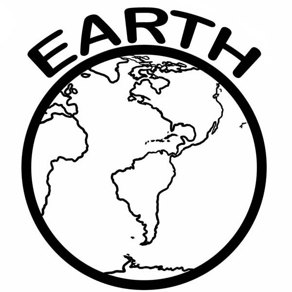 Planet Earth clipart coloring page #11