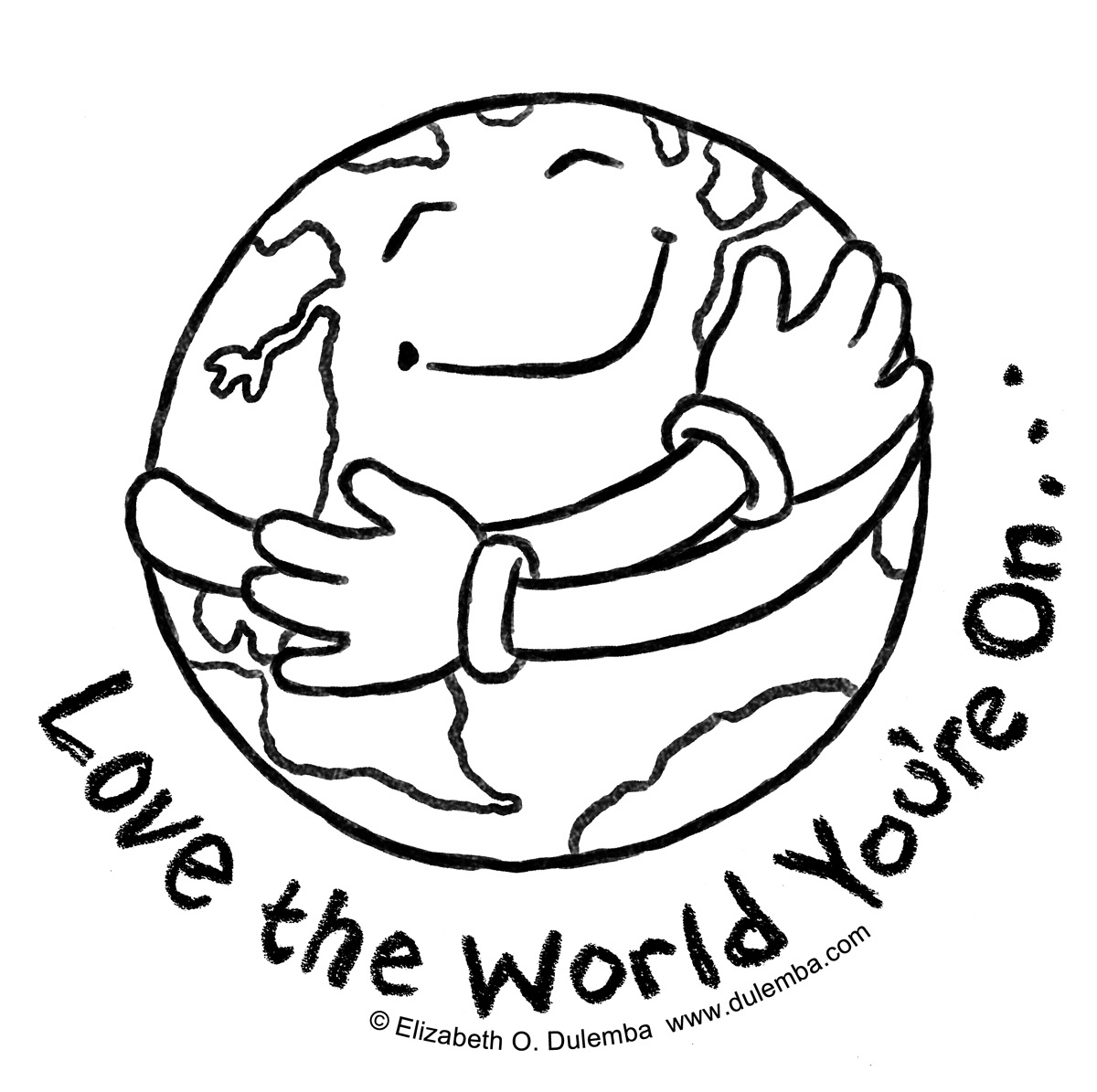 Planet Earth clipart coloring page #14