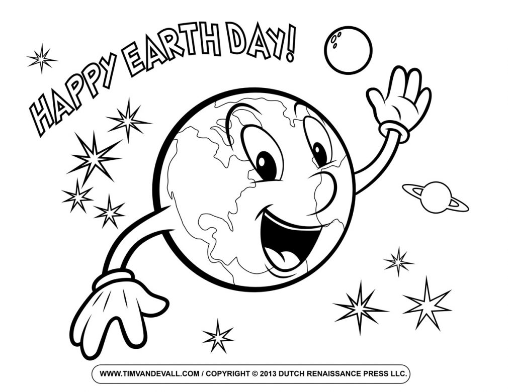 Planet Earth clipart coloring page #12