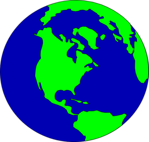 Planet Earth clipart earth map #13