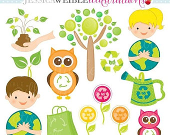 Planet Earth clipart environment Digital Cute Use Etsy Day