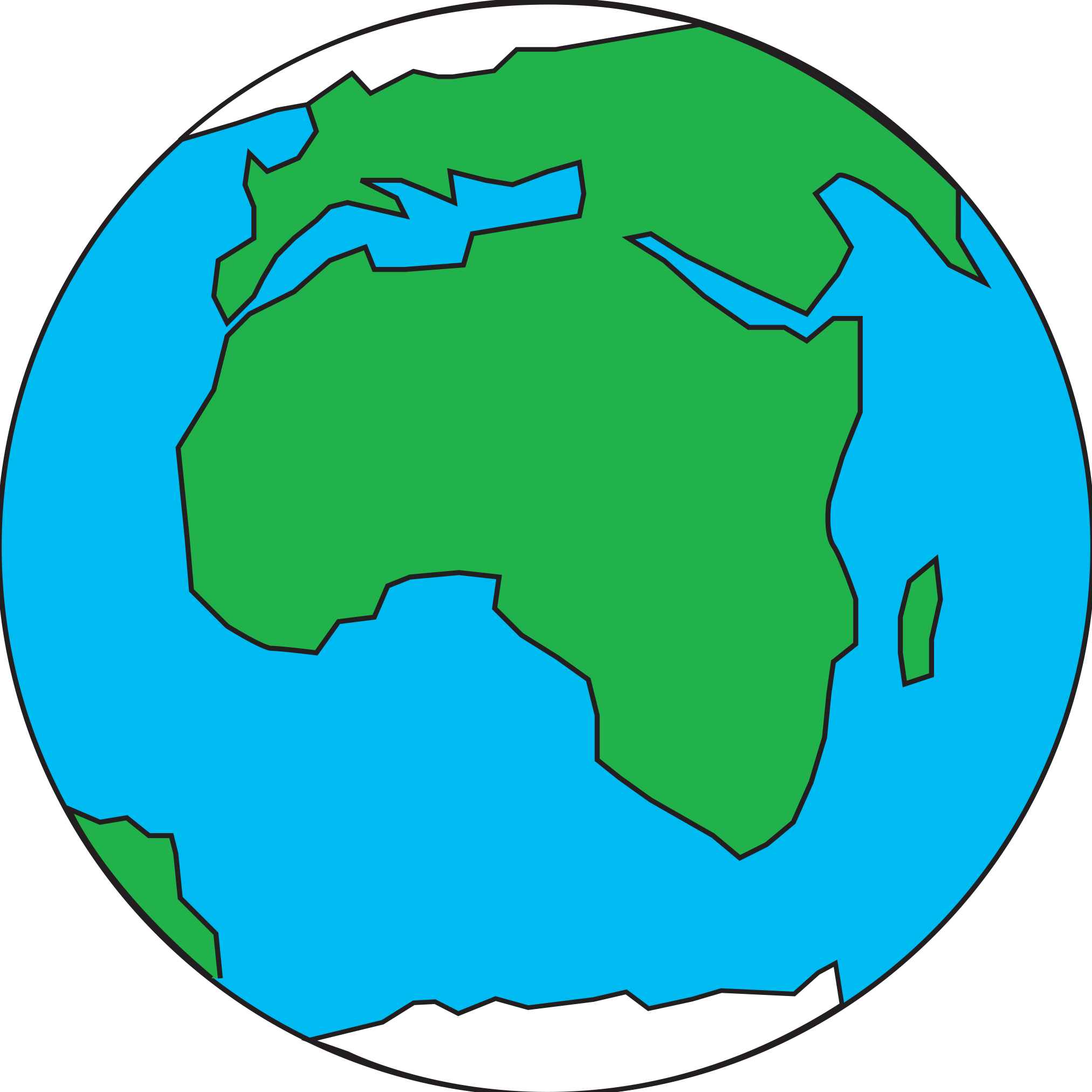 Planet Earth clipart half earth Of template :: Place Glass