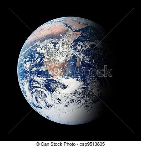 Planet Earth clipart half earth Illustration The  The background
