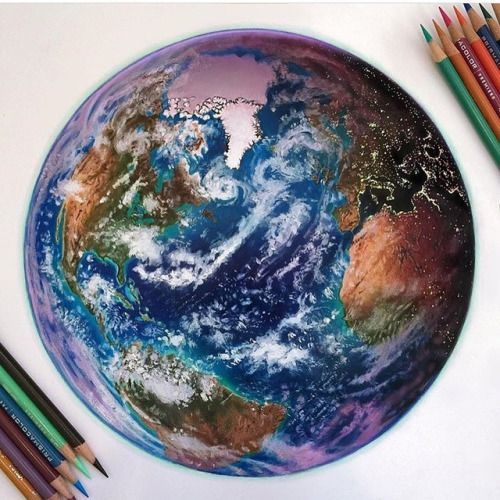 Drawn planet cool earth #7