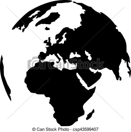 Planet Earth clipart silhouette With earth silhouette continent Planet
