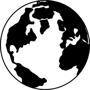 Planet Earth clipart silhouette #2