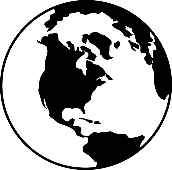 Planet Earth clipart silhouette #4