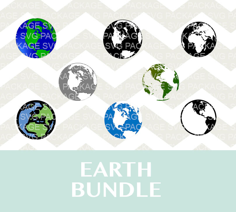 Planet Earth clipart silhouette  a is file digital