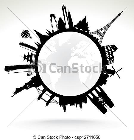 Planet Earth clipart silhouette Earth planet Vector Clipart Vector