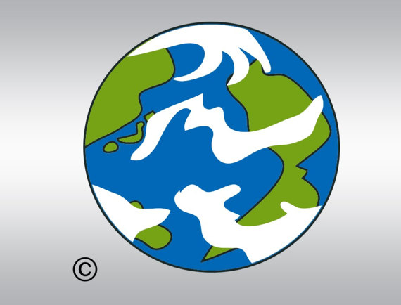 Planet Earth clipart silhouette Digital SVG Eps cuts Earth