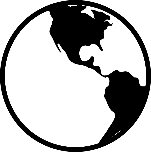 Planet Earth clipart silhouette Clipart and WikiClipArt black world