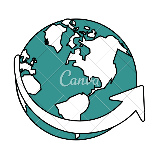 Planet Earth clipart silhouette #10