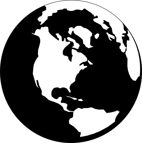 Planet Earth clipart silhouette #1