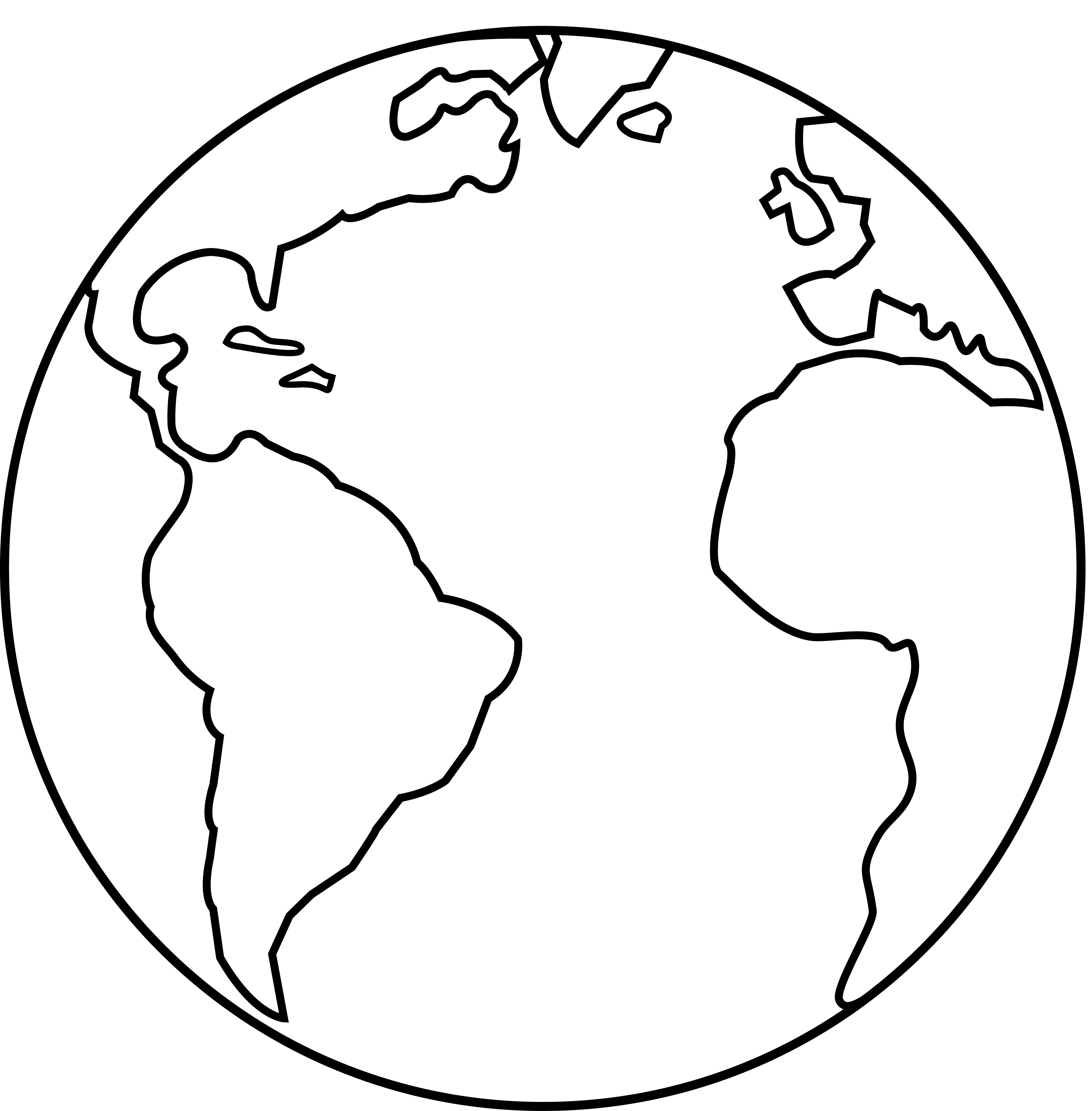 Drawn planet transparent Earth  Free clipart of