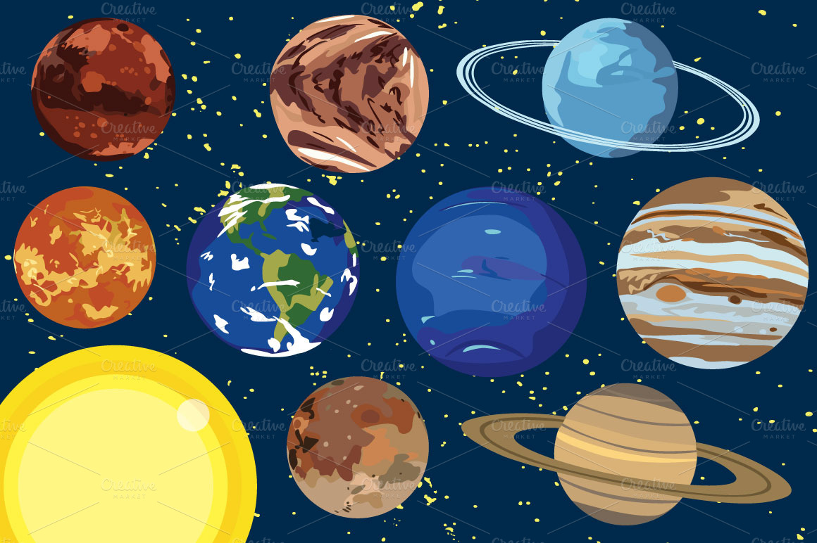 Planets clipart Planets 3 about The planets
