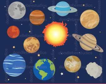 Galaxy clipart solar system Planets Solar Clipart Planets Space
