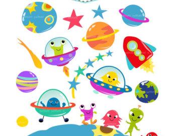 Planet clipart alien planet ON space UFO clip Etsy