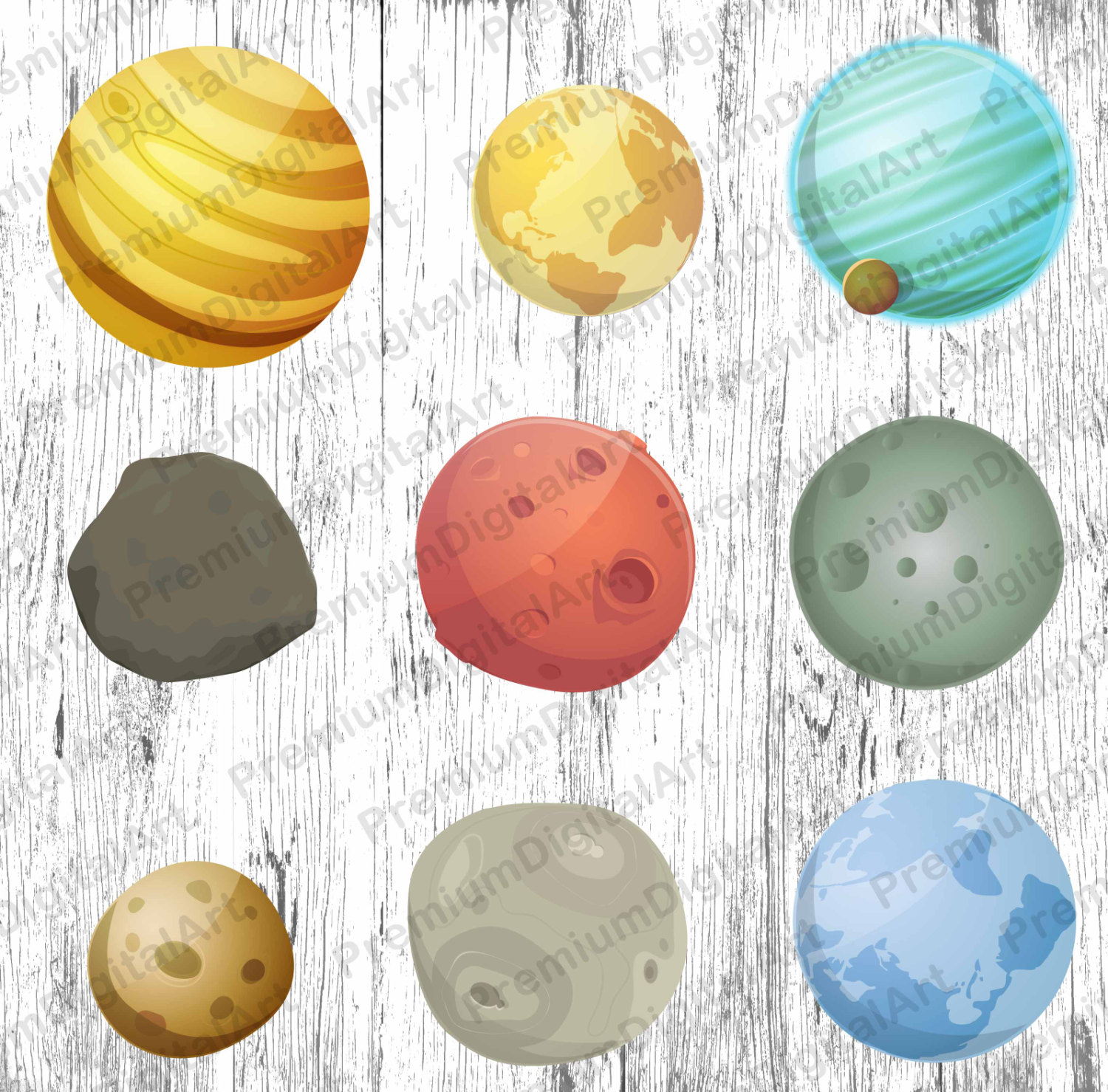 Asteroid clipart star planet Planets file is  clipart