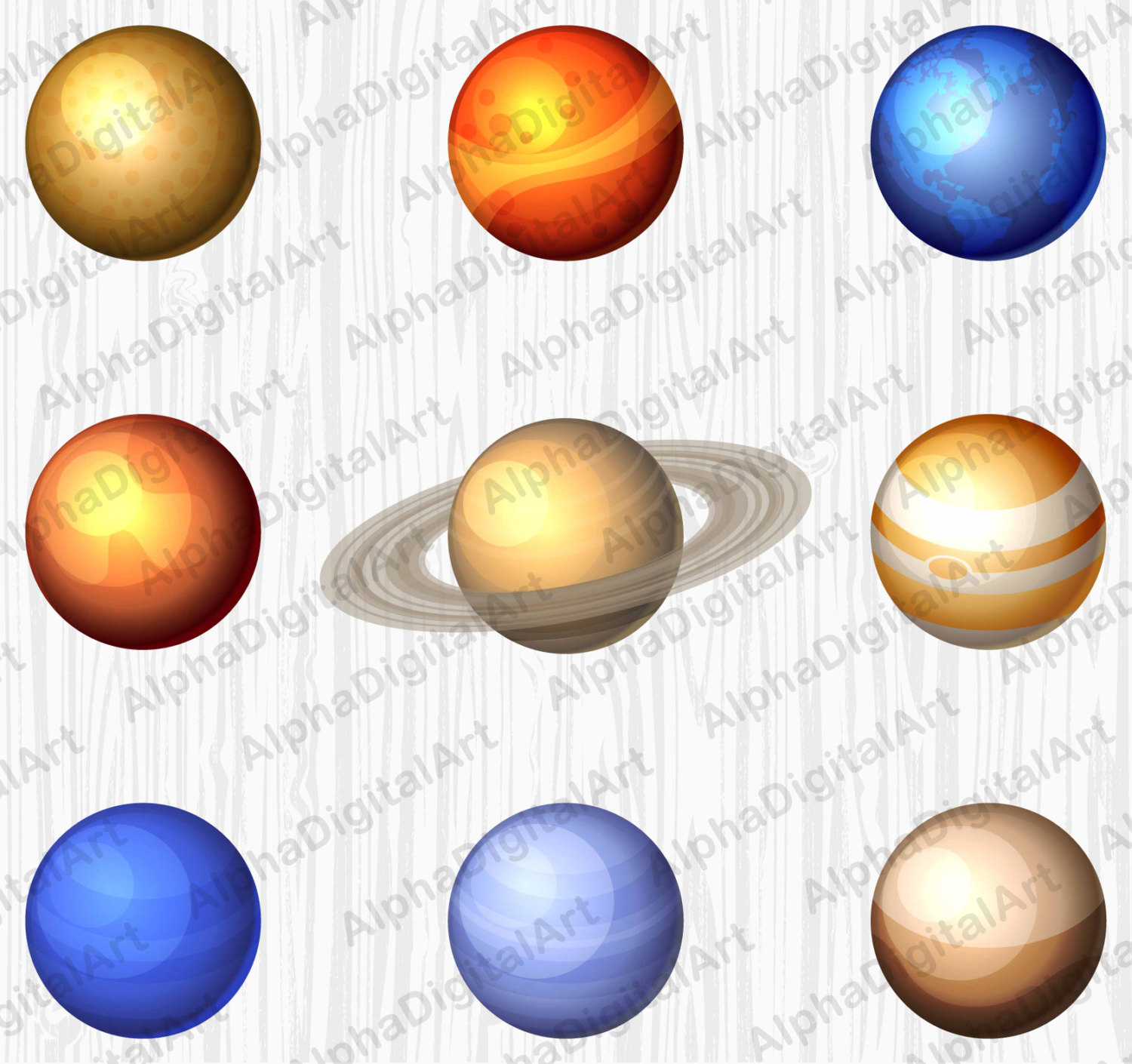 Asteroid clipart star planet Solar file is  moon