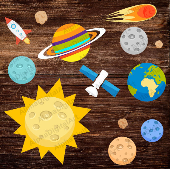 Asteroid clipart star planet #6