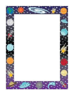 Planets clipart border #13