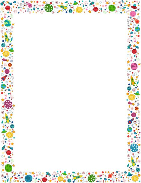 Planet clipart border A etc downloads including Free