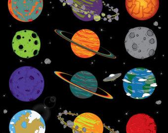 Planet clipart kawaii Clip Space clipart / art