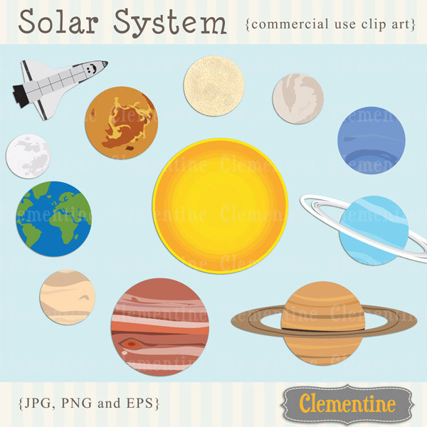 Planet clipart printable Clip Planets Etsy images solar