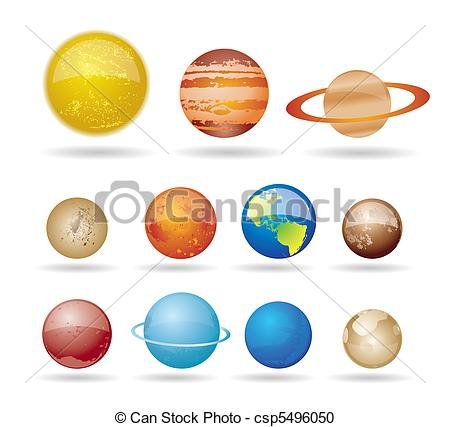 Planets clipart drawn #10